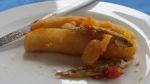 Green banana and kapenta fish stew.